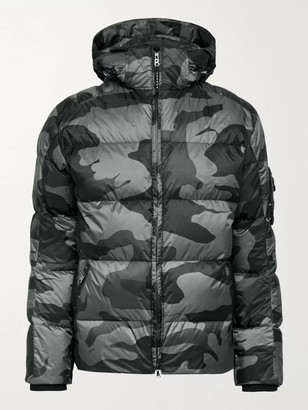 Bogner Simon 2-D Quilted Camouflage-Print Down Hooded Ski Jacket - Men - Gray