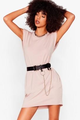 Nasty Gal Womens Shoulder Pad Case of Lovin' You Jersey Mini Dress - Black - S/M, Black