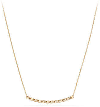 David Yurman Petite Paveflex 18K Necklace