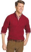 Izod Men's Classic-Fit 7GG Cable-Knit Quarter-Zip Sweater