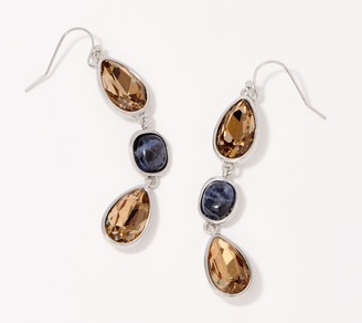 Susan Graver Multi Stone Drop Earrings