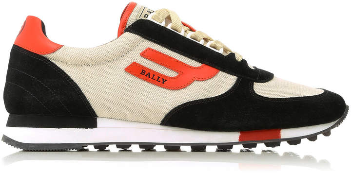 Bally Gavino Suede-Trimmed Sneakers
