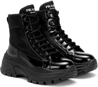 Prada Technical-twill ankle boots
