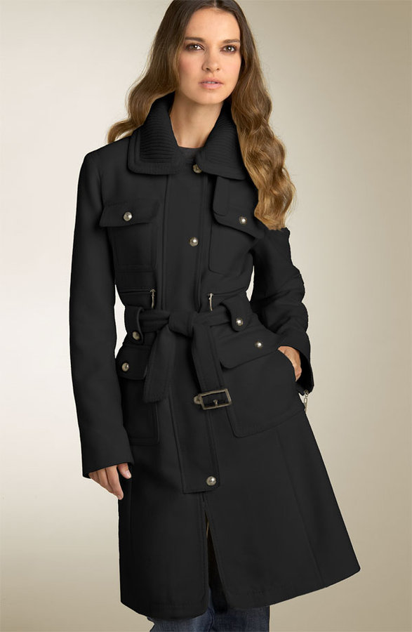 Laundry by Shelli Segal Patch Pocket Military Coat