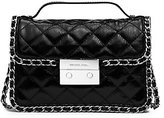 Michael Kors Carine Small Quilted Patent-Leather Messenger