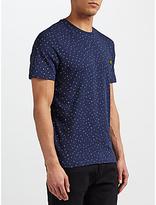 Lyle & Scott Allover Paint Dot T-shirt, Navy