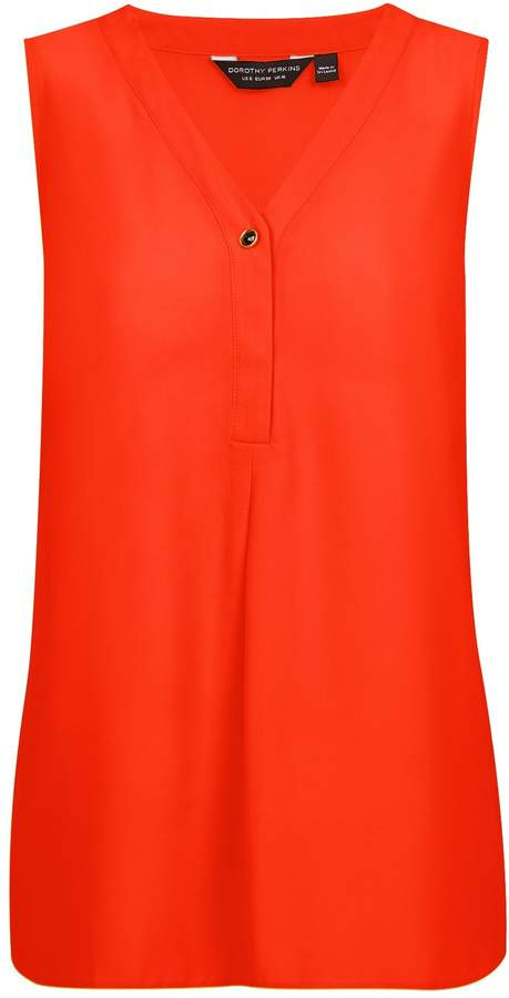 Dorothy Perkins Womens March Orange Sleeveless Top