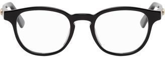 Gucci Black GG Plaque Round Glasses