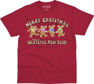 Liquid Blue Grateful Dead Gingerbread Bears Merry Christmas T-Shirt