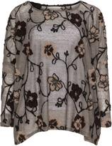 Isolde Roth Plus Size Oversized linen wool pattern sweater