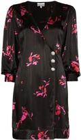 Ganni floral printed mini dress