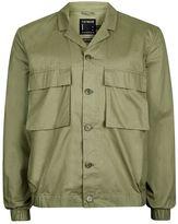 Topman Khaki Cotton Smart Shacket