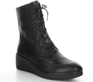 Fly London Leather Rubber Heel Boots - Lira
