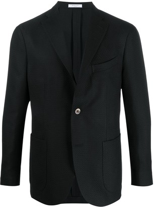 Boglioli Textured Single-Breasted Blazer