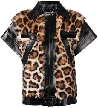 Givenchy Zipped Leopard Vest
