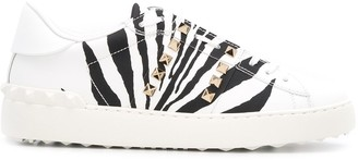 Valentino Open zebra sneakers