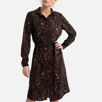 Vila Shirt Dress in Graphic Floral Print