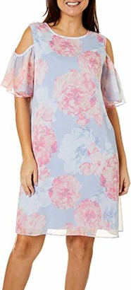 Ronni Nicole Women's Cold Shoulder Floral