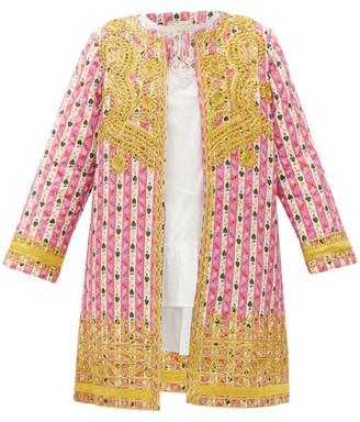 Muzungu Sisters - Ankita Botanical-print Organic-cotton Jacket - Womens - Pink Print