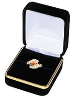 FindingKing 12 Black Velvet Diamond Ring Jewelry Gift Boxes Display