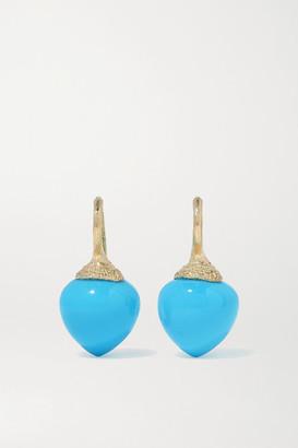 OLE LYNGGAARD COPENHAGEN Dew Drops 18-karat Gold Turquoise Earrings - one size