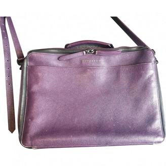 Burberry Purple Leather Travel bags