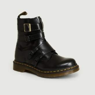 Dr. Martens Black Leather Blake II Buttero Ankle Boots - leather | black | 36 - Black/Black