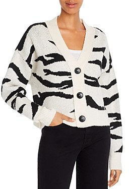 LnA Boxy Tiger Stripe Cardigan