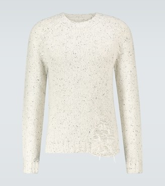 Maison Margiela Distressed knitted sweater