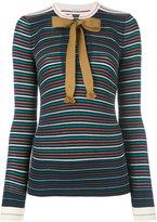 Sonia Rykiel striped top - women - Cotton/Viscose - S