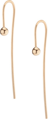 AUrate New York Long Gold Ball Hook Earrings