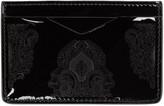 Alexander McQueen Black Patent Print Card Holder