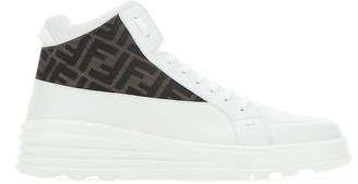 Fendi FF Jacquard Mid Top Sneakers