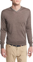 Peter Millar Collection Merino-Silk V-Neck Sweater