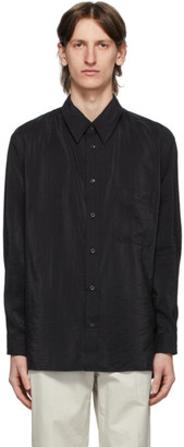 Lemaire Black Straight Collar Shirt