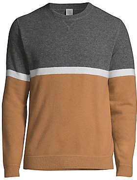 Eleventy Men's Modern-Fit Colorblock Wool & Cashmere Sweater
