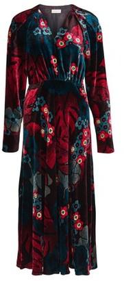 Dries Van Noten Depo velvet long dress