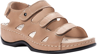 Propet Women's Sandals Bisque - Bisque Tri-Strap Kara Leather Slingback Sandal - Women