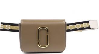 Marc Jacobs Hip Shot Leather Logo Shoulder Strap Bag
