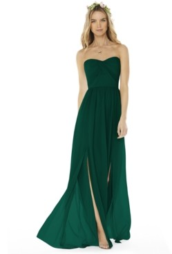 Social Bridesmaids Strapless Gown