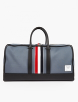 Thom Browne Canvas And Leather Holdall