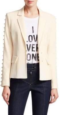 Cinq à Sept Vivianna Button-Sleeve Blazer