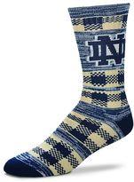For Bare Feet Adult Notre Dame Fighting Irish Double Plaid Crew Socks