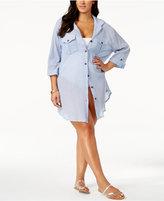 Dotti Plus Size Shirtdress Cover Up