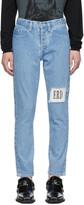 Enfants Riches Deprimes Blue Logo Patch Jeans