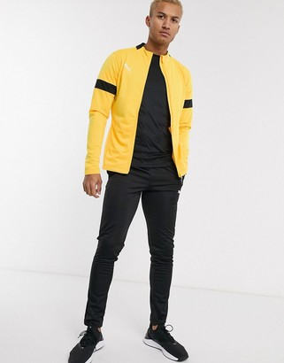 Puma Football tracksuit in yellow
