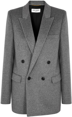 Saint Laurent Grey wool and cashmere-blend blazer
