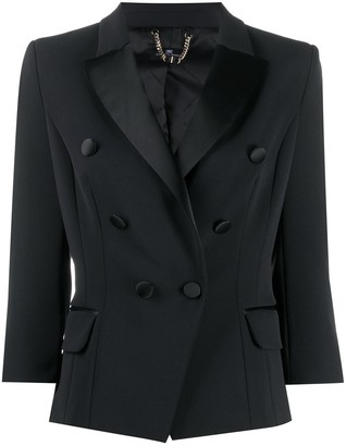 Elisabetta Franchi 3/4 Sleeves Fitted Blazer
