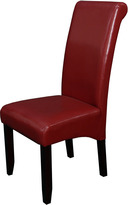 Monsoon Milan Faux Leather Red Dining Chairs (Set of 2)