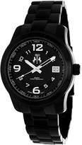Jivago Infinity Womens Black Stainless Steel Bracelet Watch
